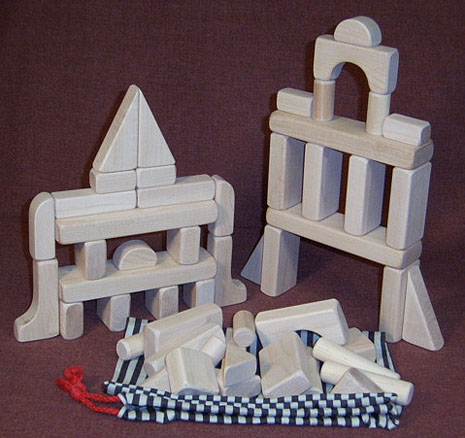 wooden toy building blocks