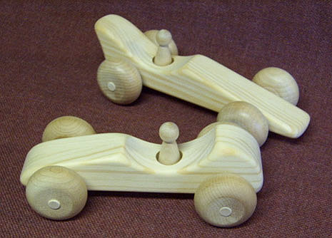 wooden toy racing cars