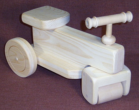 wooden toy riding vehicle